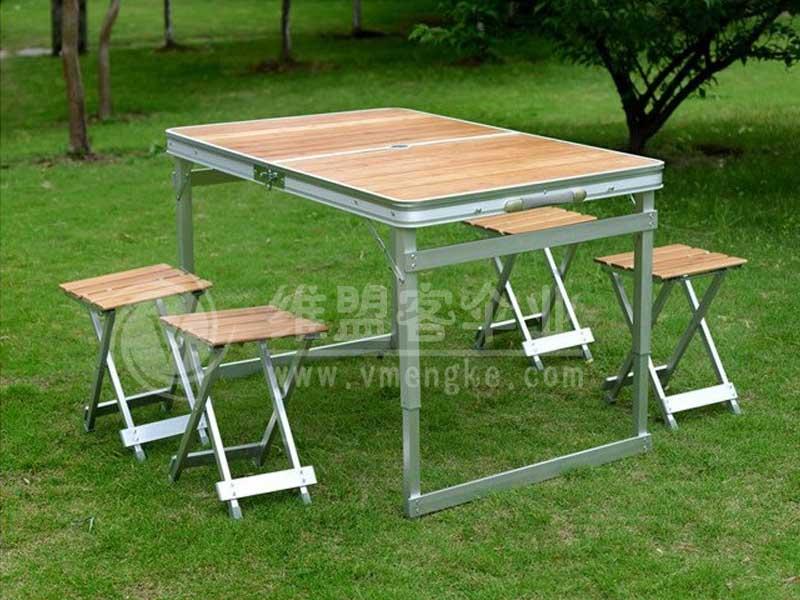 天然竹面桌椅 折叠桌椅  2