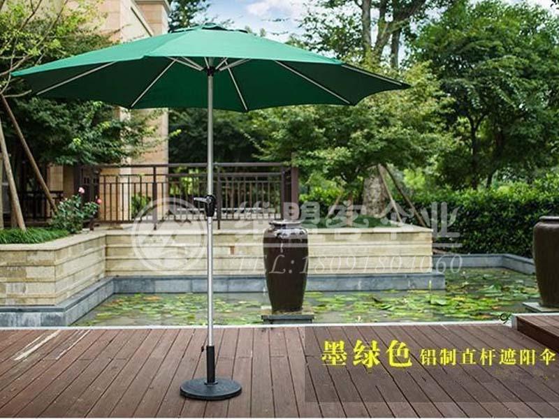 墨绿色中柱伞2