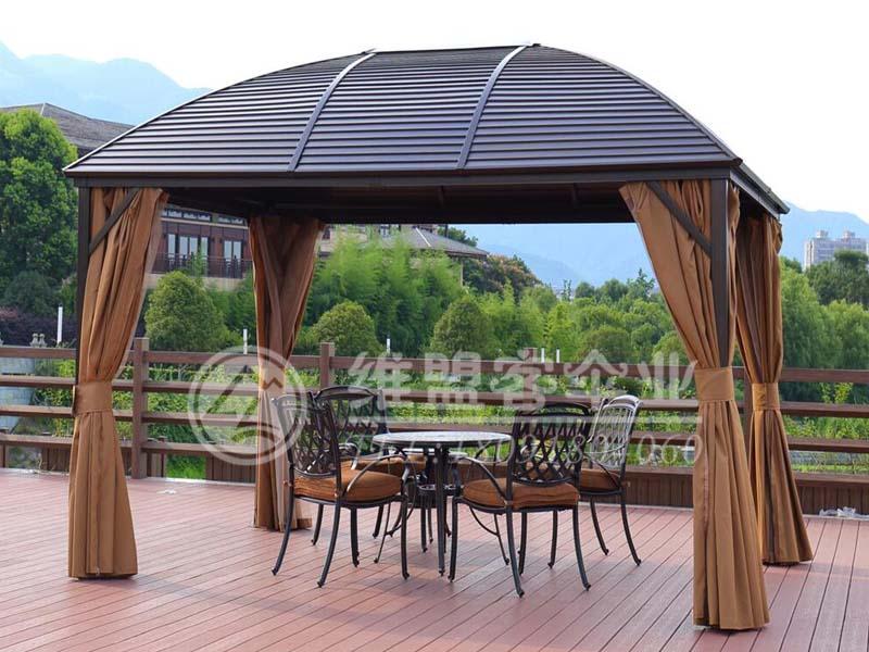 镀锌豪华弧形遮阳篷2